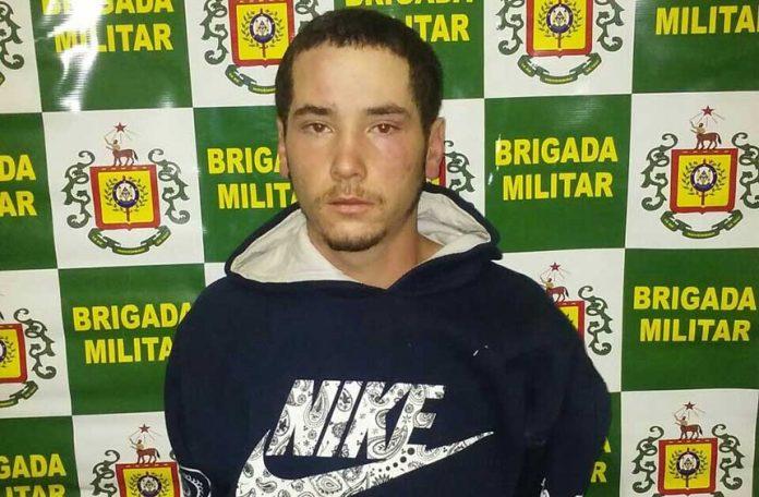 Samuel Alvarenga Sarabia (foto) foi preso em flagrante pelo homicídio de Cristian Cogoy, no Parque de Diversões Tiaraju em Bagé. (Crédito: Reprodução)