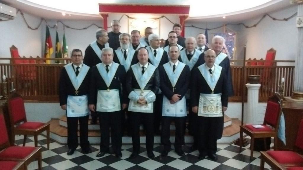 Maçons de Porto Alegre prestam homenagem ao Dia do Médico. Foto divulgação.