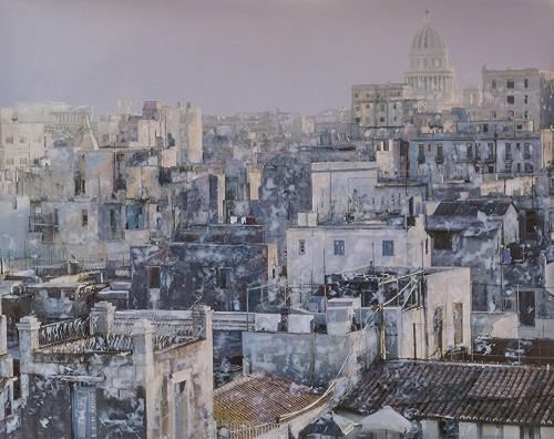 No detalhe: uma das cidades retratadas por Paulo Amaral em sua nova exposição. (Foto: Nilton Santolin/divulgação)