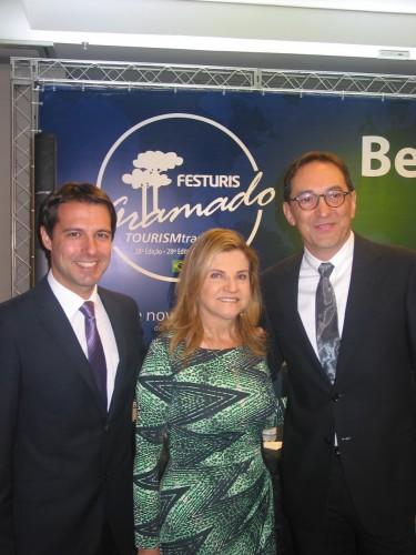Eduardo Zorzanello, Marta Rossi e Paulo Roberto Chiele. (Foto: Paulo Gasparotto/especial)
