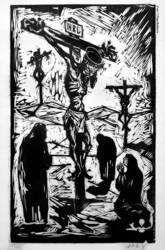 No detalhe: a paixão de Cristo nos traços de Xico Stockinger. (Foto: Tiago Baldasso/Divulgação)