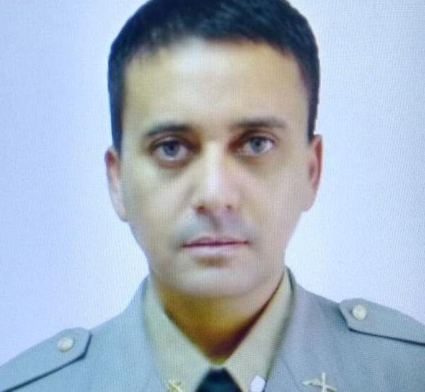O sargento João Marcelo Borges Desidério foi baleado durante tiroteio com quadrilha. (Foto: BM/Divulgação)