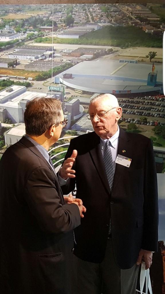 Paulo Sérgio Pinto e Heitor Müller, presidente da Fiergs.