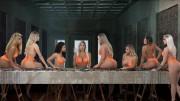 Belas candidatas em poses sensuais em mesa de refeição provocaram reações na internet. (Foto: Reprodução)