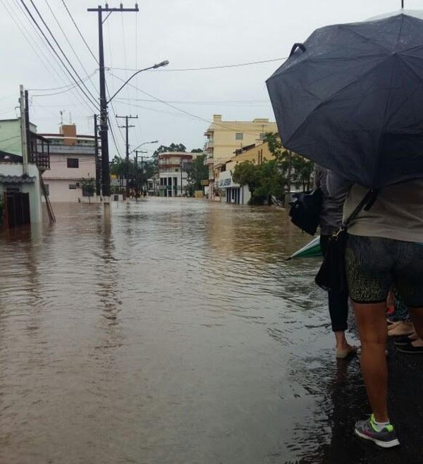 Vale do Taquari é uma das regiões atingidas (Foto: Defesa Civil/Divulgação )