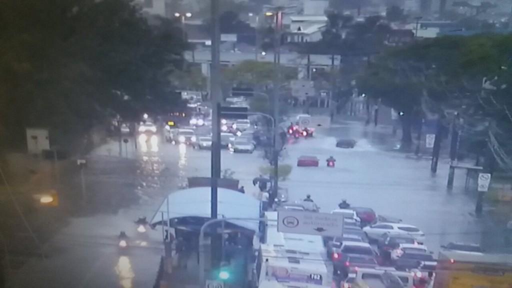Zona Norte da Capital registra alagamentos (Foto: EPTC/Divulgação)