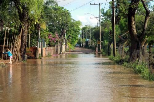 Cheias atingem a região das ilhas em Porto Alegre (Foto: Brayan Martins/PMPA)