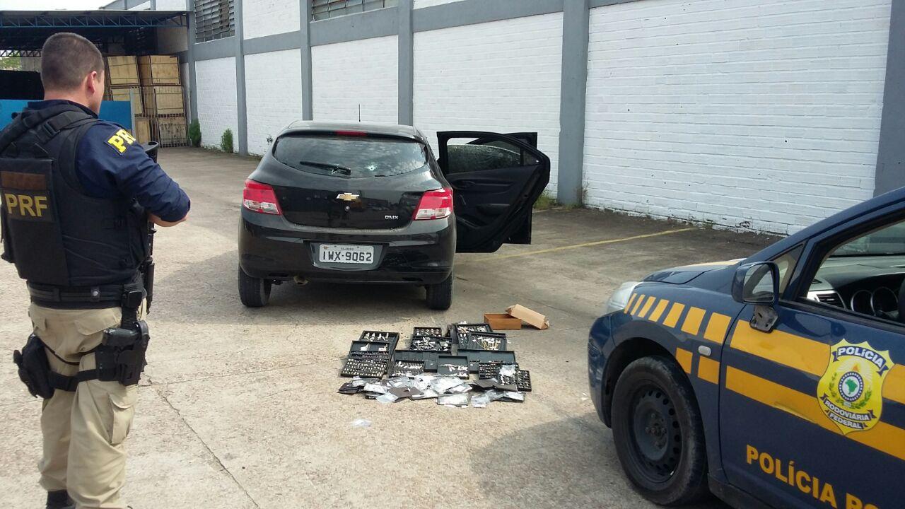 d602db77585 Polícia Rodoviária Federal recupera em Porto Alegre joias roubadas em Santa  Catarina