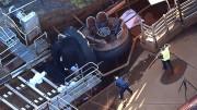 Tragédia aconteceu na atração aquática chamada Thunder River Rapids (Foto: AP)
