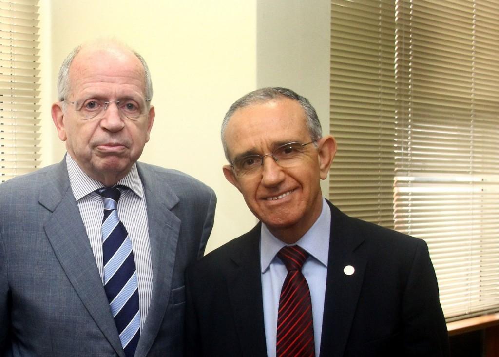 Alfredo Guilherme,  provedor, e Júlio Matos, diretor-geral e de Relações Institucionais da Santa Casa de Misericórdia. Fotos: Banco de Dados/O SUL