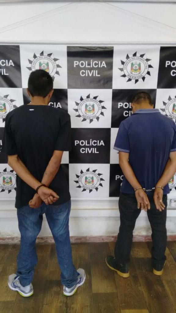 Os presos são apontados como os executores do homicídio do motorista do Uber (foto: Polícia Civil/divulgação)