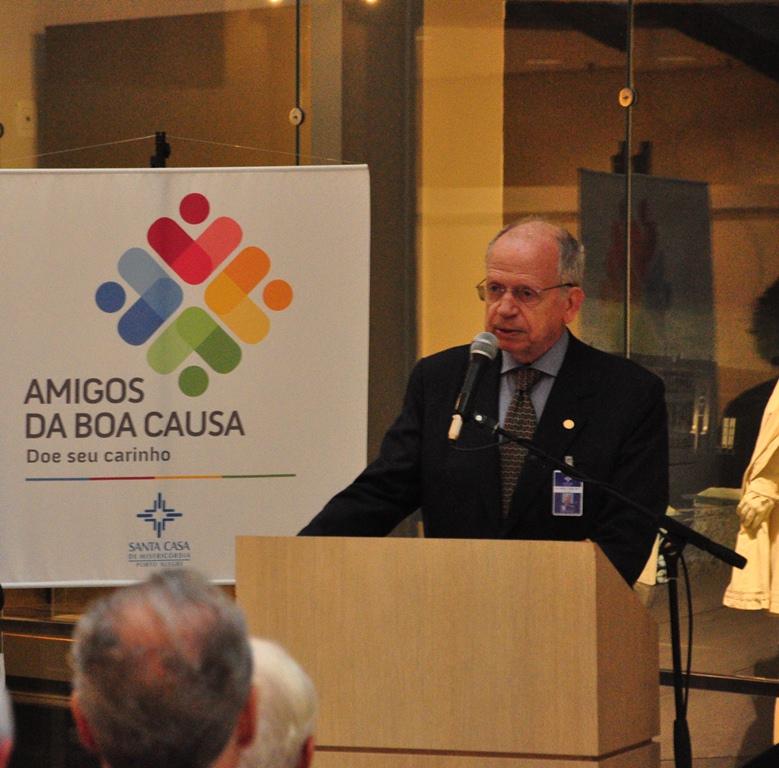 Alfredo Englert, provedor da Santa Casa. Fotos: Rogerio Brandao/Santa Casa.