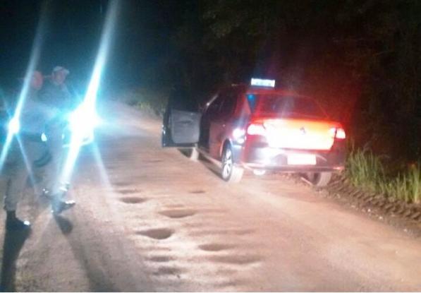 Vítima foi abordada por três bandidos (Foto: Brigada Militar/Divulgação)