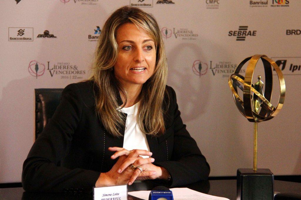 Simone Leite, presidente da Federasul. Foto: Jackson Ciceri/O Sul
