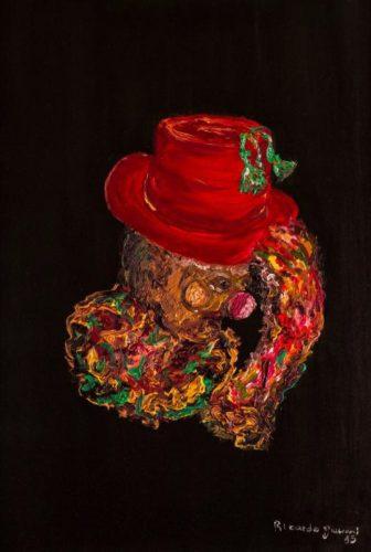 """O """"Palhaço Pensante"""" é uma das obras de Ricardo Giuliani em exposição na Mason Jump até o dia primeiro de dezembro. (Foto: Divulgação Jump)"""