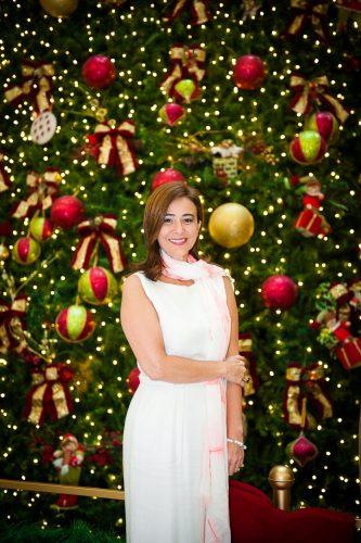 Nailê Santos recebeu para apresentação da decoração de Natal do Shopping Iguatemi. (Foto: Christiano Cardoso/Divulgação)