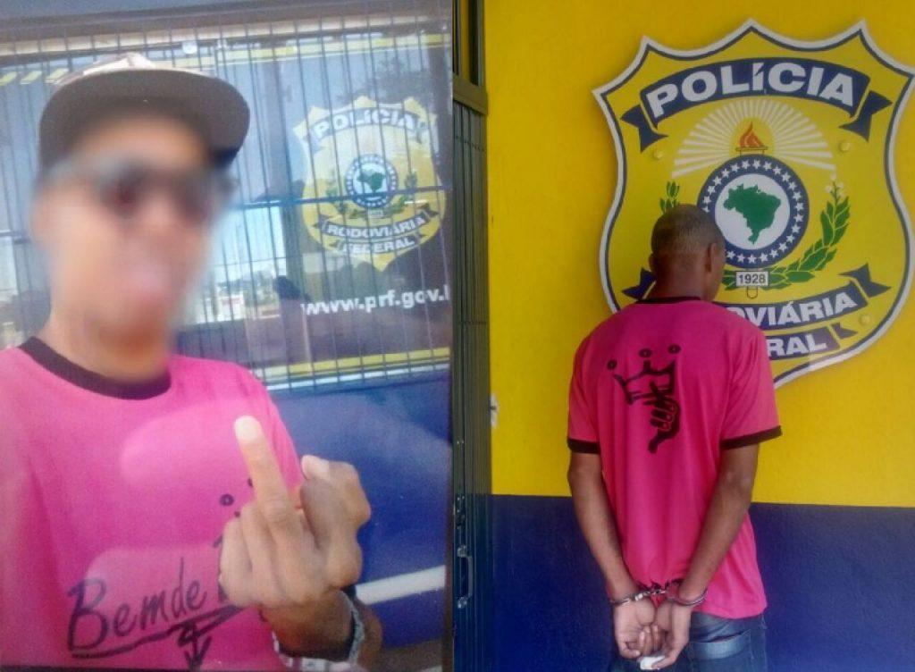 Homem de 30 anos tem  passagem pela polícia. (Foto: PRF/Divulgação)