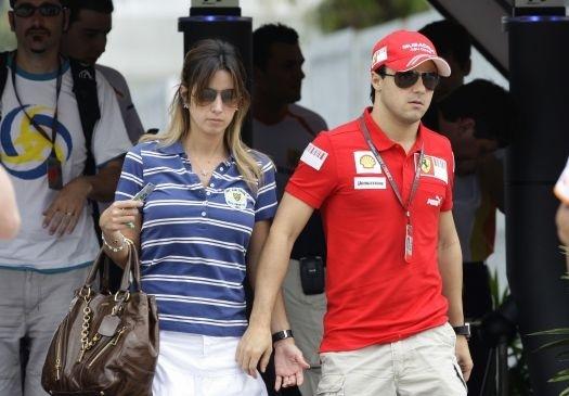 Felipe Massa com a esposa Raffa Massa. (Foto: Reprodução)