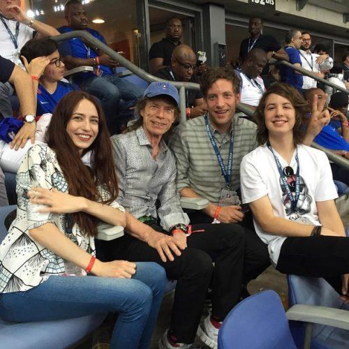 Lucas Jagger e Mick Jagger na final da Euro 2016 (Foto: Reprodução/reprodução/Instagram)