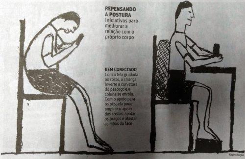 No detalhe: as dicas para repensar a postura ao utilizar dispositivos eletrônicos. (Foto: Reprodução)
