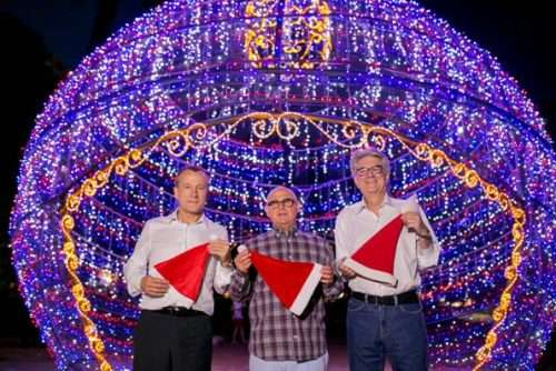 Lideranças: Alcides Debus, do CDL POA, Henry Chmelnitsky, do Sindha, e Paulo Kruse, do Sindilojas, promovem uma série de ações natalinas no Parcão. (Foto: Divulgação)