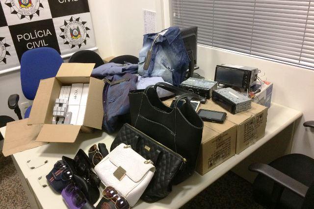 Objetos furtados foram recuperados (Foto: Polícia Civil/Divulgação)