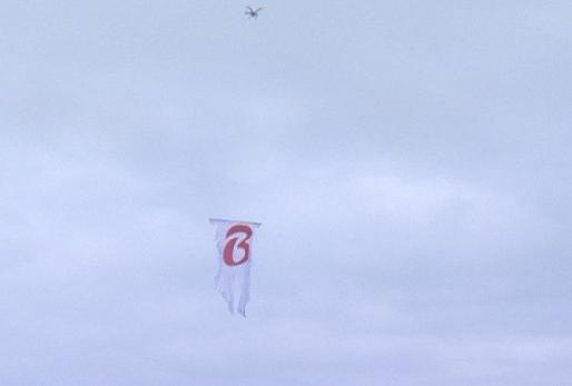 Drone sobrevoou o estádio Beira-Rio no momento do jogo entre Inter e Cruzeiro. (Foto: Reprodução)