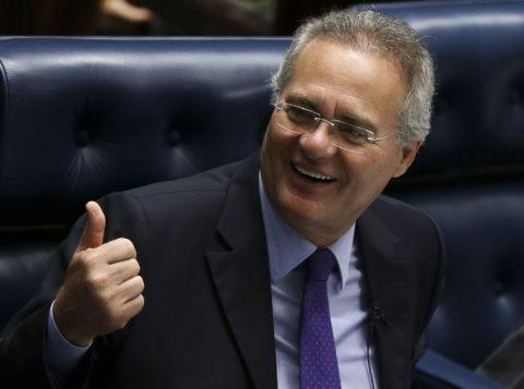 """""""Humildemente repito que não temo ser investigado. Tenho certeza de que jamais serei condenado por qualquer conduta"""", disse Calheiros. (Foto: Marcelo Camargo/Agência Brasil)"""