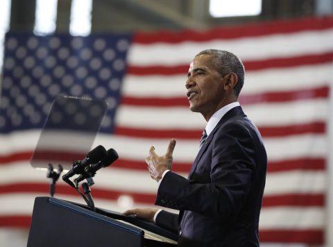 Obama durante discurso em uma base aérea, nos EUA. (Foto: Reprodução)