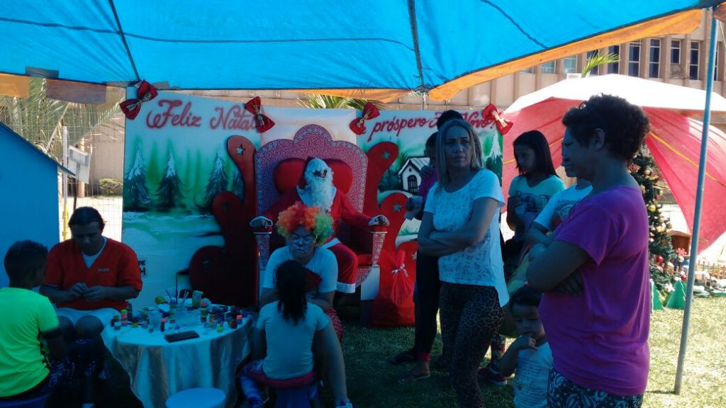 Papai Noel recebe a criançada (Foto: Divulgação)