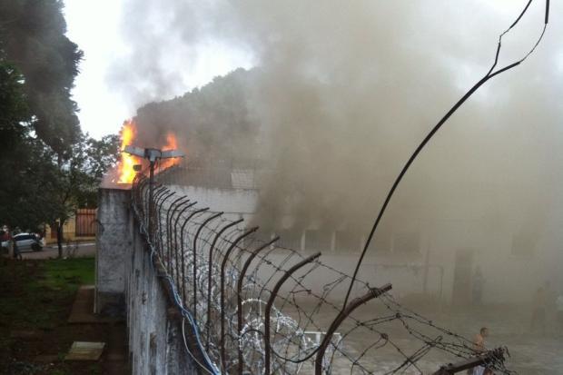 Rebelião no Presídio Estadual de Getúlio Vargas, na Região Norte do Estado, resultou em quatro mortes. (Foto:  Amapergs Sindicato/Divulgação)