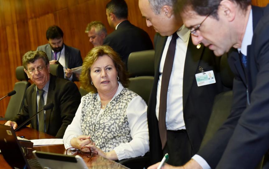 Sessão foi comandada pela presidente da Casa, deputada Silvana Covatti (PP). (Foto: Foto: Guerreiro/ALRS)