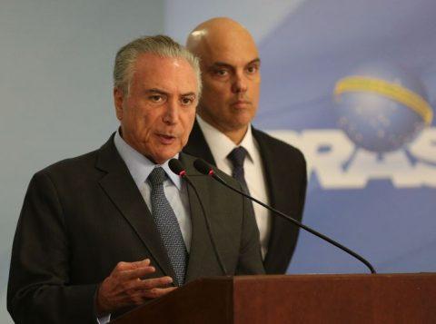 Temer fez um rápido pronunciamento sobre o falecimento de Zavascki e decretou luto oficial de três dias. (José Cruz/Agência Brasil)