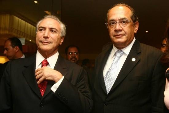 Encontro do presidente Michel Temer com ministro Gilmar Mendes não constava na agenda oficial do Planalto. (Foto: Reprodução)