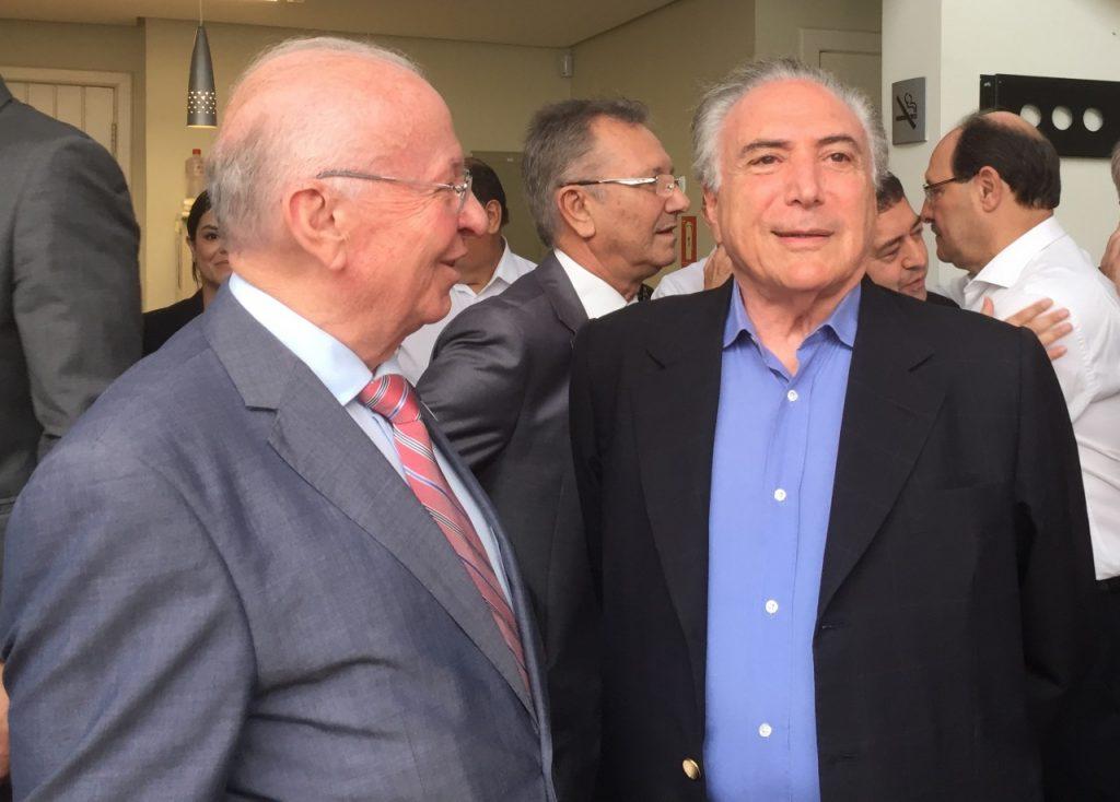 Odacir Klein e o presidente Temer. Foto: Mauro Lewa Moraes.