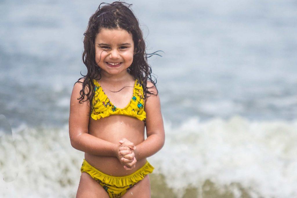 Júlia Maciel Noronha, 3 anos, pais David Rodrigo Noronha e Queli Belusso Maciel, de Caxias do Sul em Capão da Canoa.Foto: Jackson Ciceri/O Sul