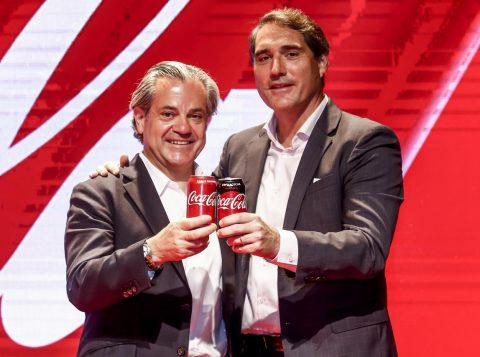 Marcos de Quinto, vice-presidente executivo global e líder global de marketing (CMO) da Coca-Cola Company, e Henrique Braun, novo presidente da Coca-Cola Brasil.