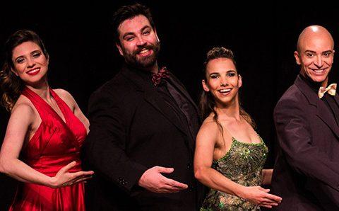 Pose: as damas, Daniela Aquino e Juliana Rutkowski, e os cavalheiros, Diego Mac e Nilton Gaffree Jr., prometem boas risadas à plateia. (Foto: Gui Malgarizi/divulgação)