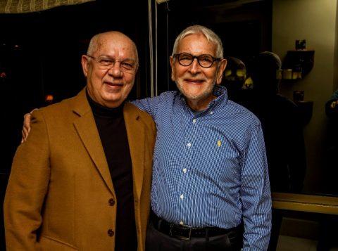 O ministro do STF, Teori Zavascki, com o amigo Fernando Ernesto Corrêa. (Foto: Pedro Antonio Heinrich/especial)
