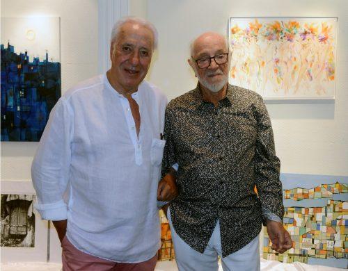 Roberto Maisonnave e Vitório Gheno na galeria Playas Blancas, em Punta del Este. (Foto: Nádia Raupp Meucci/divulgação)