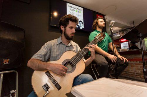 O duo formado por Mariano Telles e Ricardo Seffner fez uma apresentação elogiada e com boas escolhas de repertório. (Foto: Pedro Antonio Heinrich/especial)