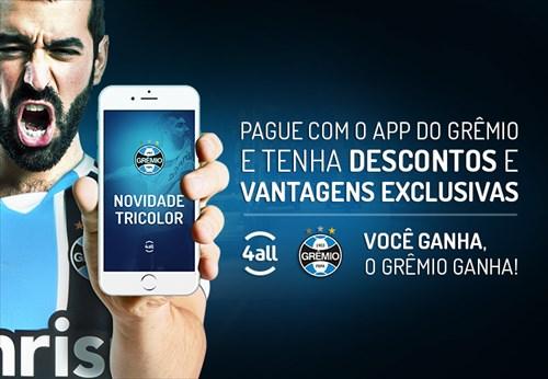 Grêmio é o primeiro clube de futebol a disponibilizar pagamentos pelo  aplicativo de celular 334e8f9d95d5c