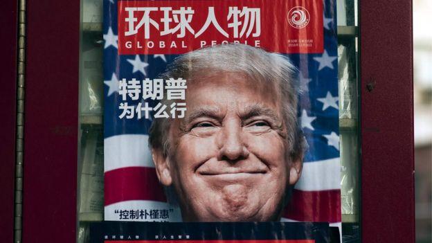 Na China, Trump é criticado por seu discurso protecionista. (Foto: Reprodução)