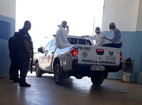 Neste sábado, peritos do Itep foram a Alcaçuz em busca de corpos. (Foto: Sejuc/Divulgação)