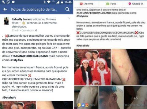 Em post no Facebook, adolescente diz que foi espancado pela mãe por ser gay. (Foto: Reprodução/Facebook)
