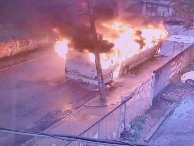 Incidente ocorreu após protesto na vila Cruzeiro. (Foto: Divulgação/EPTC)