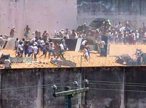 Confronto entre presos em Alcaçuz. (Foto: Reprodução)