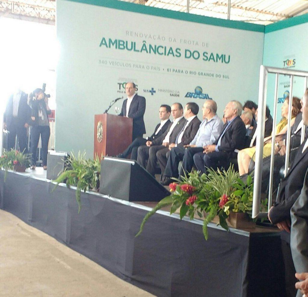 Sartori durante discurso. (Crédito: Reprodução)