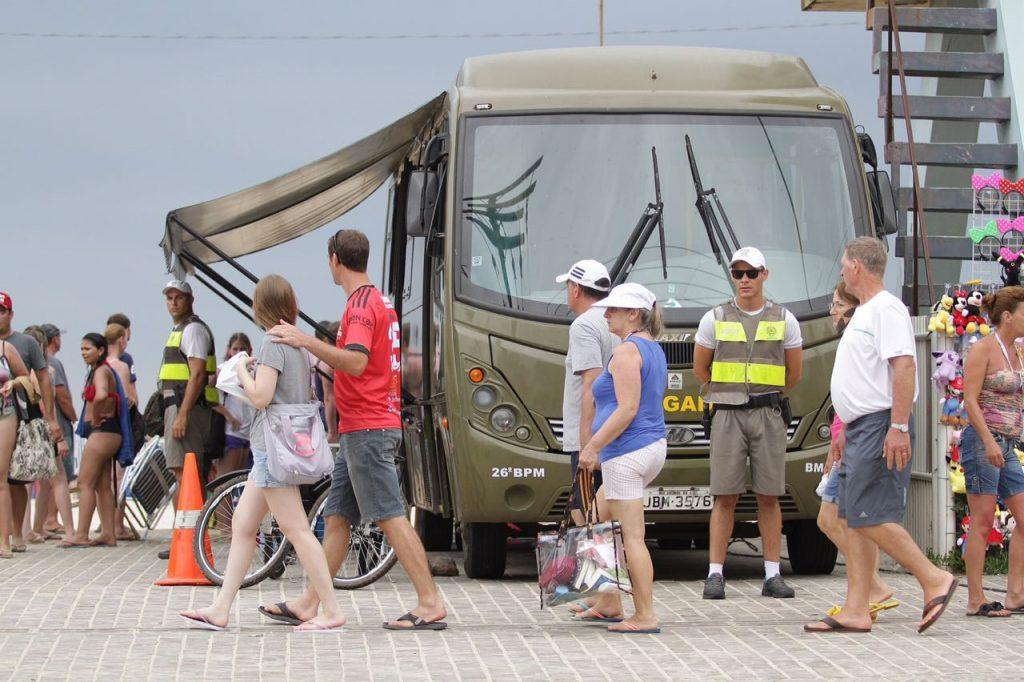 BM divulgou balanço de 30 dias da operação nos balneários desde o início do veraneio. (Foto: Robson Alves/PM5)