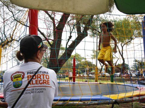 Além de torneios e oficinas, são realizadas atividades recreativas (Foto: Joel Vargas/PMPA)